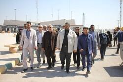 فرمانده قرارگاه مرزی ستاد راهنمای زائر اربعین از چذابه بازدید کرد