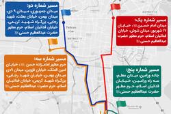 مسیرهای پیادهروی جاماندگان اربعین ۹۸ در تهران