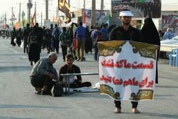 میزبانی از زائران حسینی در موکبی به پهنای همدان/۸۵ موکب برپا شد