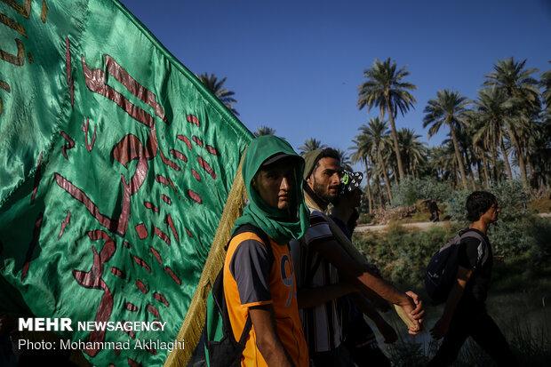 Arbaeen pilgrims in Babil Governorate, Iraq