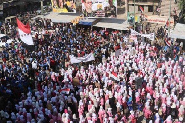 Suriye halkından ülke ordusuna destek gösterisi
