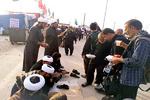 خدمات روحانیون به زائران حسینی/از پاسخگویی به شبهات تا واکس زدن کفش آنها