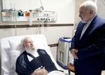 ایرانی وزیر خارجہ نے آیت اللہ مکارم شیرازی کی عیادت کی