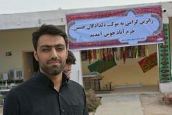 موکب دلدادگان حسینی لرستان ۴ هزار زائر را اسکان داده است