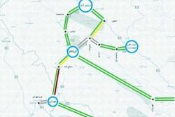 وضعیت ترافیکی در محورهای ایلام/ترافیک سنگین در جاده ایلام-مهران