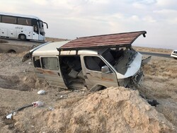 ۱۶مصدوم در تصادف رانندگی ۸ کیلومتری مرز مهران در عراق