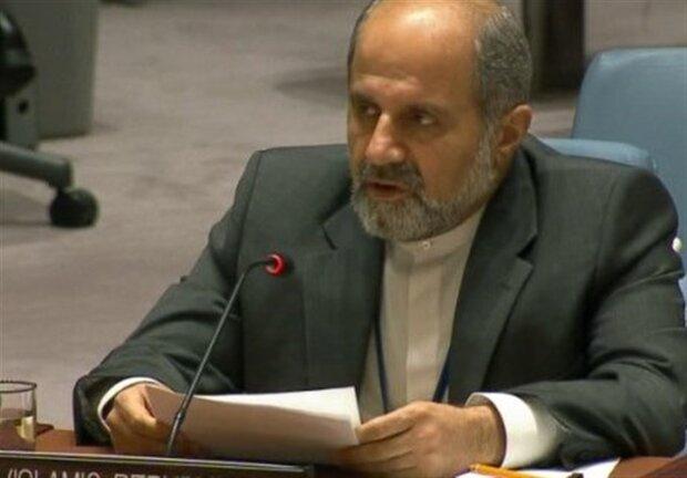 إيران تدعو العالم للبحث عن حلول للحد من التدخلات الاميركية الهدامة واحادية الجانب