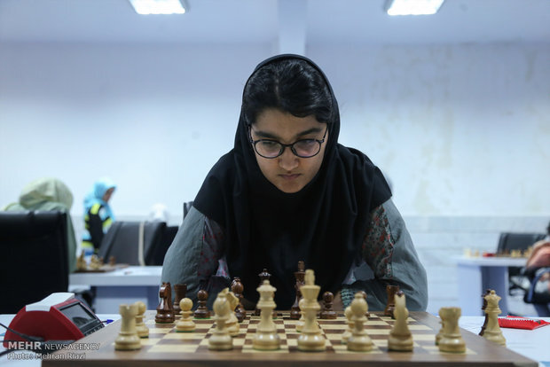 Young Iranian female player finishes runner-up in world junior chess