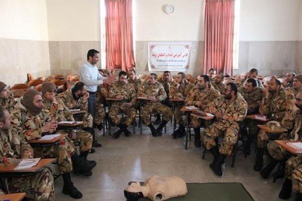برگزاری دوره آموزشی کمکهای اولیه ویژه مشمولین وظیفه عمومی درقزوین