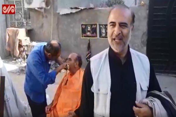 خدمت رسانی در موکب شهدای گمنام به زائران اربعین حسینی