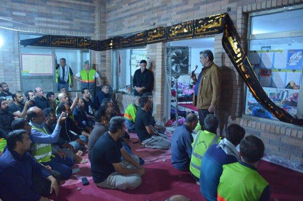 حضور شهردار تهران در محل اسکان خدام الحسین