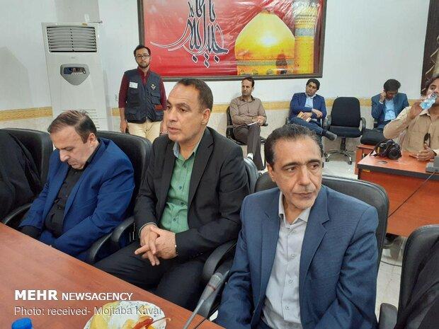 جلسه ستاد  اربعین کشور در مرز مهران