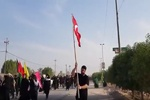 Irak'taki Erbain Yürüyüşü merasiminde Türk bayrağı