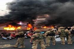 بیانیه ارتش لبنان درباره ناآرامی های شمال این کشور/ معترضان شیشه های شهرداری المینا را شکستند