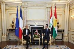 رایزنی بارزانی با وزیر خارجه فرانسه