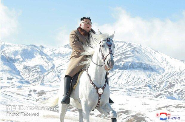 """ركوب الخيل على قمة """"الجبل المقدس"""""""
