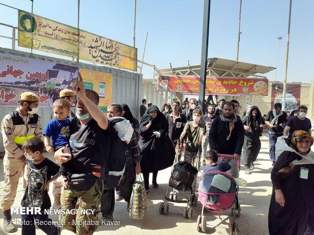موج بازگشت زوار از مرز مهران