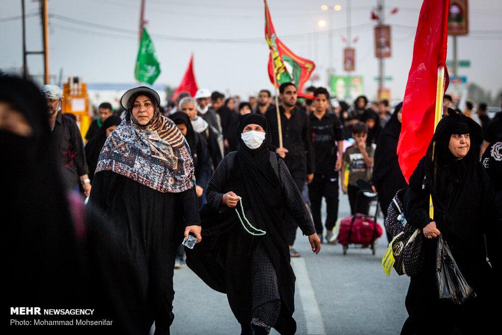حال و هوای مسیر عاشقی یک روز مانده به اربعین/حب الحسین یجمعنا