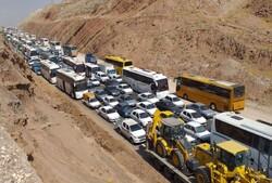 ترافیک پرحجم در استان کرمانشاه/تردد کند اما روان است