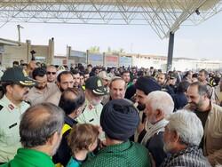 فیلم بازدید سردار اشتری از مرز مهران