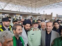 بازدید فرمانده نیروی انتظامی از پایانه مرزی مهران