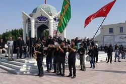 دلدادگان حسینی در گناوه پیادهروی اربعین را برگزار کردند