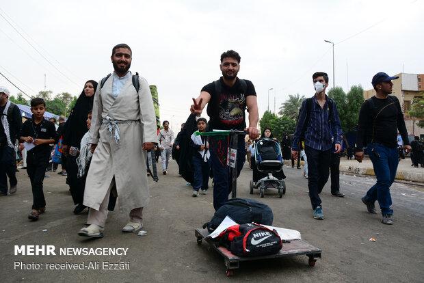 پیاده روی اربعین در مسیر نجف- کربلا