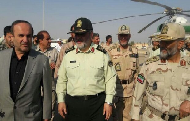 Iran police chief visits Mehran border to monitor Arbaeen pilgrims' commute