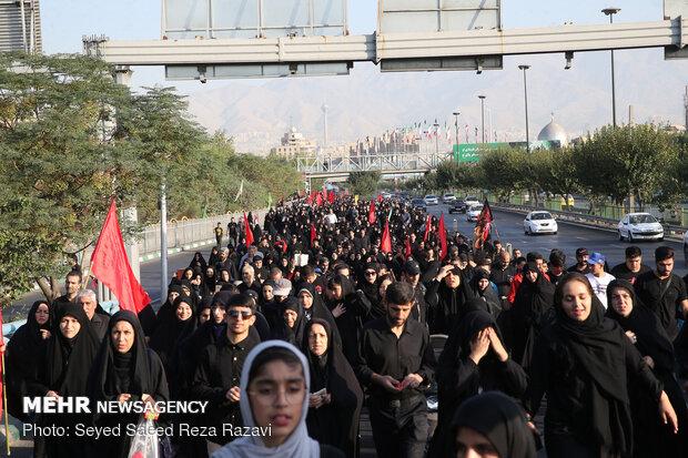 راهپیمایی جاماندگان اربعین در تهران