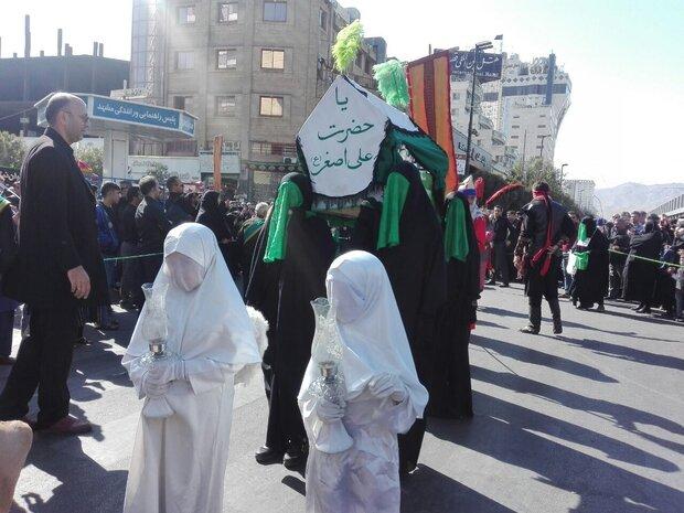 حرکت کاروان نمادین اسرای کربلا در مشهد