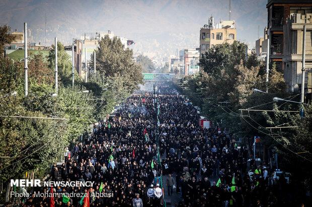راهپیمایی جاماندگان اربعین در تهران - ۲