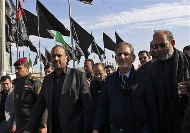 While in Iraq, VP Jahangiri holds phone call with Iraqi PM on Arbaeen Day