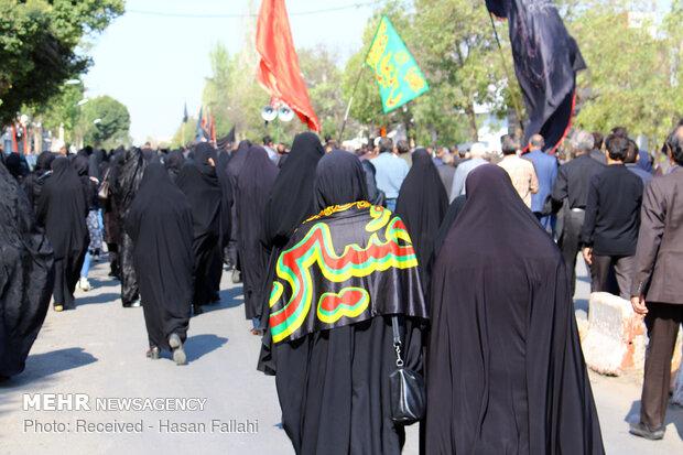 همایش پیادهروی عاشقان امام رضا (ع) در اندیمشک برگزار شد