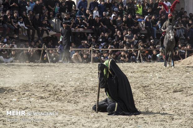 تعزیه روز اربعین حسینی در امامزاده شاه کرم اصفهان
