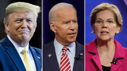 Warren, Biden and Trump