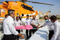 مہران سے 17 بیمار زائرین کو ہیلی کاپٹر سے ایلام منتقل کیا گیا