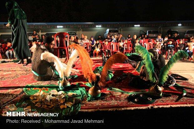 چهاردهمین سوگواره ملی تعزیه عاشورائیان در لامرد شروع شد