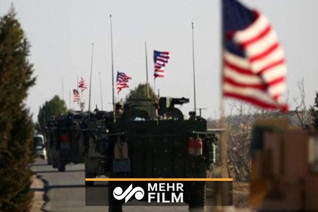 تصاویرالاخباریه سوریه از عقب نشینی نظامیان آمریکایی از رقه