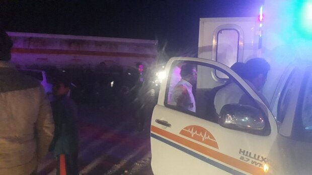 تصادف زنجیره ای ۵ خودرو در آزادراه پردیس-تهران