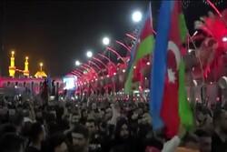 Azerbaycanlı zairler İmam Hüseyin (as) Türbesi'nde