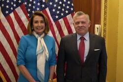 دیدار شاه اردن با رئیس مجلس نمایندگان آمریکا
