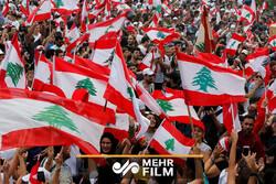 گزارشی از تظاهرات در لبنان