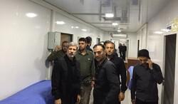 وزیر دفاع از بیمارستان سیار ساخت وزارت دفاع در کربلا بازدید کرد
