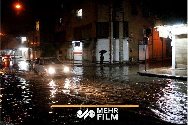 بارش شدید باران در سوادکوه مازندران