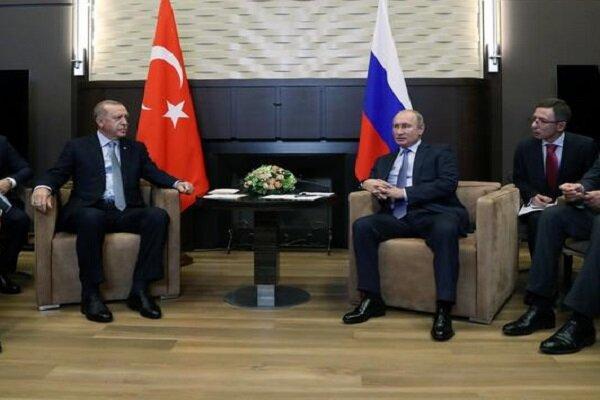 اردوغان و پوتین در ارتباط با سوریه گفتگو کردند