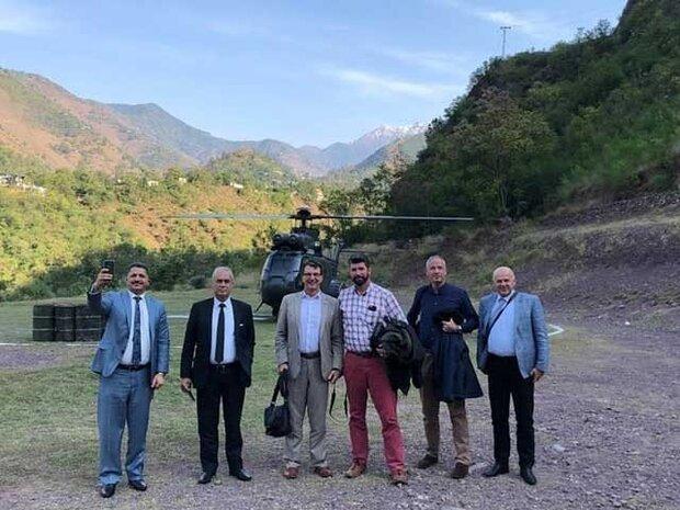 پاکستان میں تعینات غیر ملکی سفیروں کا لائن آف کنٹرول کا دورہ