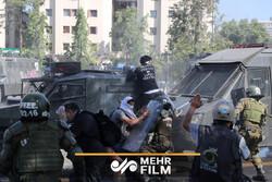 چلی میں پر تشدد مظاہرے اور جنگ کی صورتحال