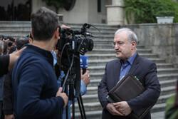 ایرانی کابینہ کے اراکین کی صحافیوں سے گفتگو