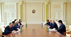 FM Zarif meets with President Aliyev in Baku