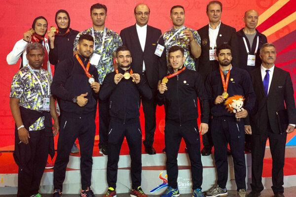 المنتخب الايراني للساندا يتربع عرش البطولة في مسابقات الووشو العالمية